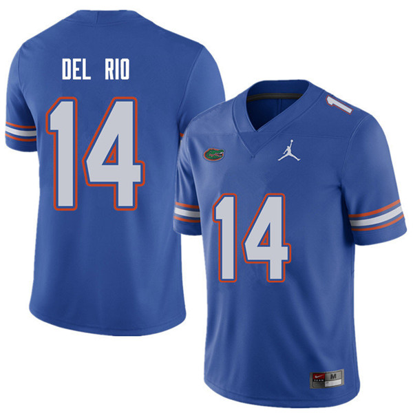 Jordan Brand Men #14 Luke Del Rio Florida Gators College Football Jerseys Sale-Royal